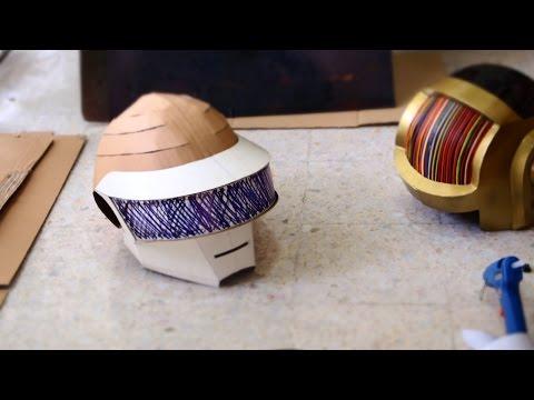 #70: Daft Punk Thomas Helmet Part 1 - Cardboard (free template)   Costume How To   Dali DIY