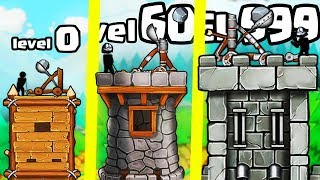 IS THIS THE MOST OVERPOWERED CATAPULT CASTLE EVOLUTION? (9999+ LEVEL UPGRADE) l The Catapult