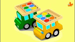 PAINT PARTY! - Cartoon Cars - Cartoons for Children - Videos for Kids to Learn Colors