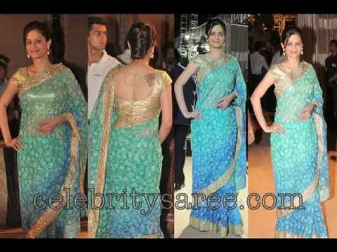 Celebrities Saris and Salwars at Dheeraj Deshmukh nd Deepshika Wedding
