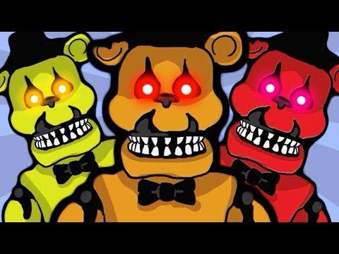 Продолжаем Сражаться с ХОРРОР БОССАМИ Мишка из 5 Ночей Фредди Кукла Чаки нападают в детской игре