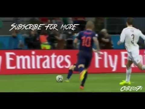Arjen Robben is faster than C.Ronaldo,Aubameyang,Bale,Valencia and Walcot