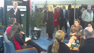 The Hands on MD_ Edward Gillespie of Cheltenham holds a quiz for racegoers
