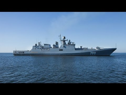 Новейший фрегат «Адмирал Макаров» успешно отстрелялся в Балтийском море