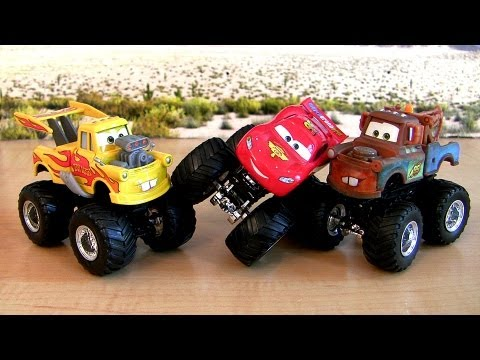 Custom-Monster-Trucks-Drag-Star-Mater--Lightning-McQueen-Cars-2-Disney-Pixar-Fake-Knock-off-toys