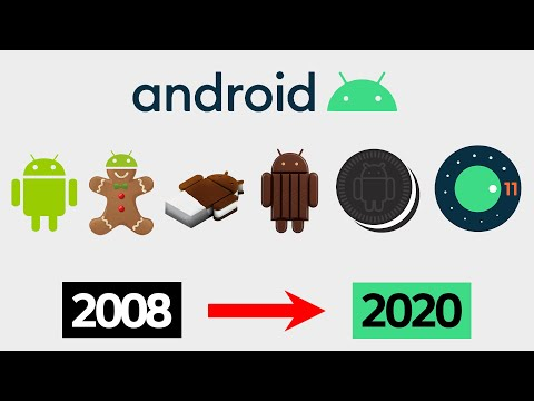 Evolution of Android OS 1.0 to 11 2020