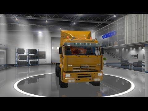 Euro Truck Simulator 2 обзор мода ( Камаз - 6460 ) Отлично!