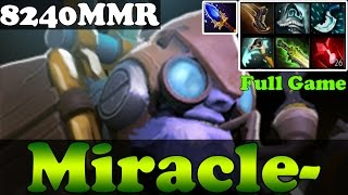 Dota 2 - Patch 6.86 : Miracle- 8240MMR Plays Tinker - Full Game - Ranked Match Gameplay