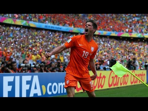 Klaas-Jan Huntelaar Penalty Kick Goal vs Mexico (World Cup 2014)