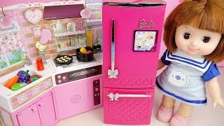 Baby doll kitchen and refrigerator toys baby Doli play