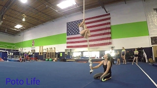 5 year old awesome gymnast Brea: crazy gym training