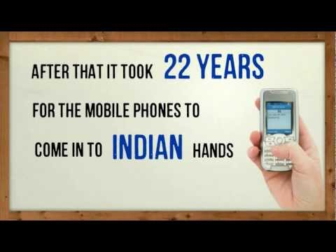 India mobile industry growth numbers and statistics - animated presentation by Netbhet