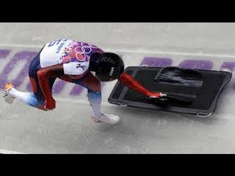 Russian Aleksandr Tretiakov Gold medal Skeleton win Sochi Olympics 2012