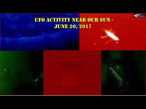 UFO activity near our Sun - June 20, 2017