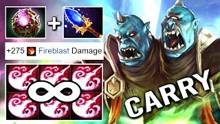 WTF INFINITY STUN Scepter Carry Ogre Magi Octarine Core + Talent 25 Imba 7.17 Dota 2
