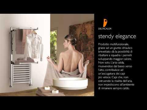 Scaldasalviette ad acqua calda a parete stendy elegance - Scaldasalviette ad acqua ...