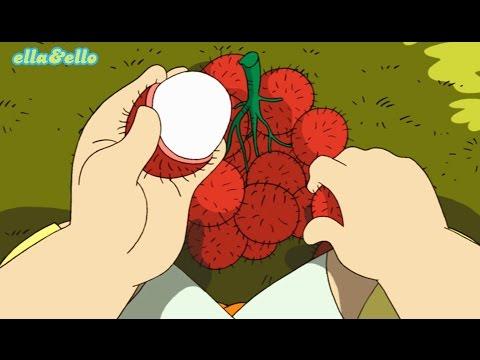 download lagu Ella Ello : Kutahu Nama Buah - Rambutan, Mangga, Pisang | Puri Animation Channel