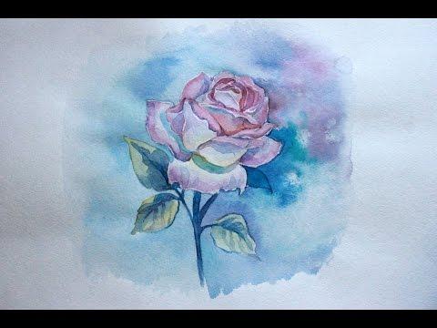 Видео как нарисовать розу своими руками