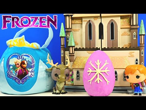 Frozen Surprise Basket - Shopkins Play Doh Kinder Eggs Disney Princess Barbie Peppa Pig Mlp video
