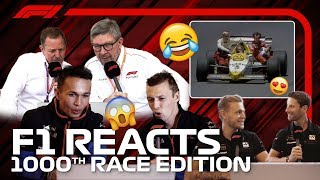 F1 Reacts: Drivers And Pundits Re-Live F1's Greatest Moments | Race 1000