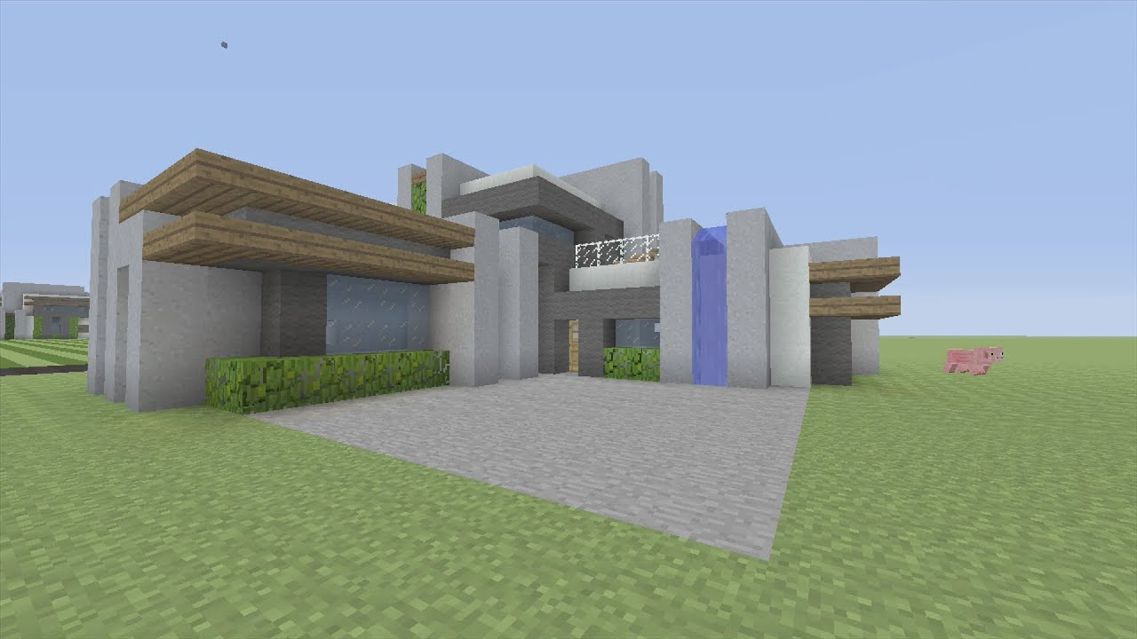 How To Build A Modern Mansion In Minecraft Youtube