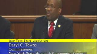 NY,  New York State Joint Legislative Budget hearing on Housing - 2/5/13