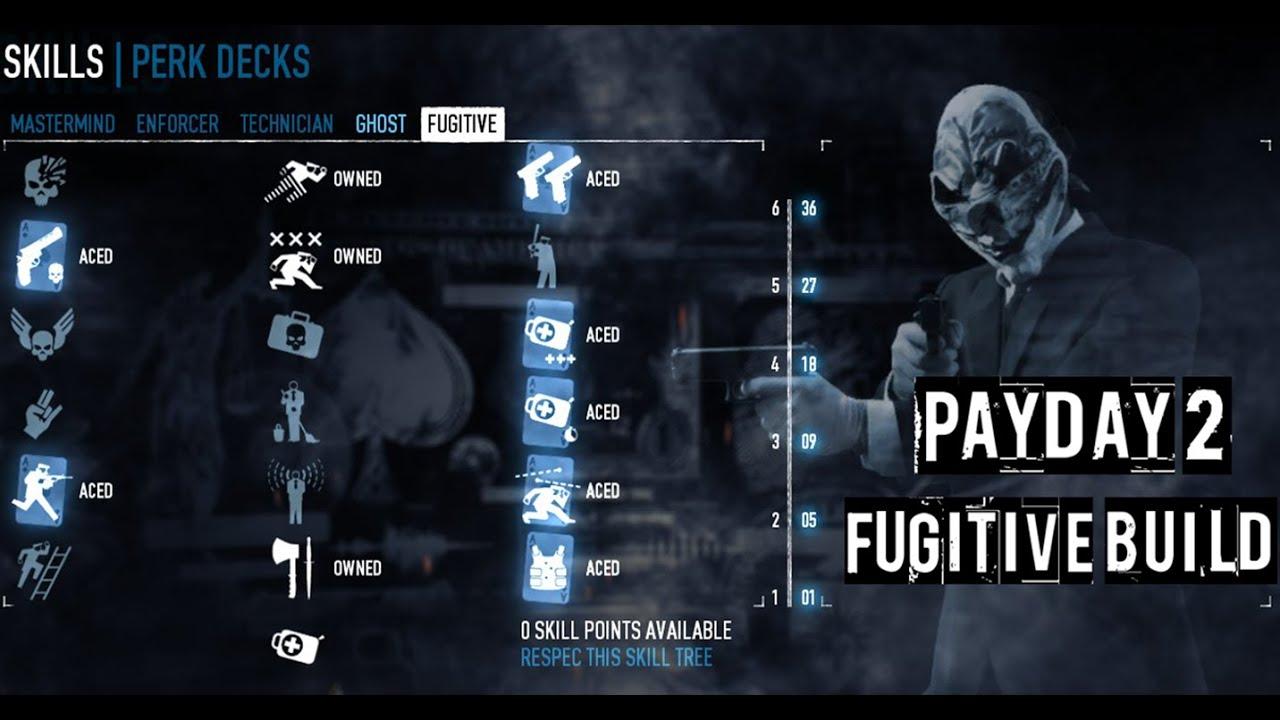 Payday 2: Fugitive Build (Gunslinger) - YouTube