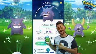 CAPTURO TRES SHINIES DIFERENTES & GENGAR 100% ! RAID DAY de GENGAR - Pokemon Go