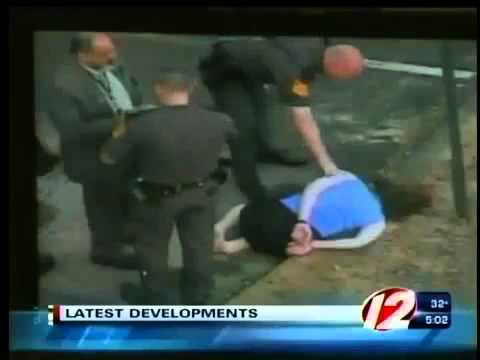 Police Brutality, Rhode Island Cop Kicks HANDCUFFED woman in head!