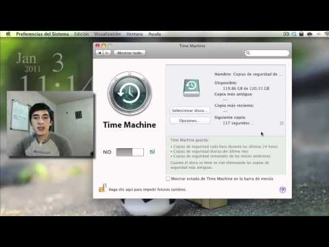 Crear y configurar un respaldo de tu Mac usando Time Machine
