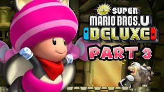 HIJACKING CLOUDS - New Super Mario Bros. U Deluxe (PEACHETTE GAMEPLAY) - PART 3