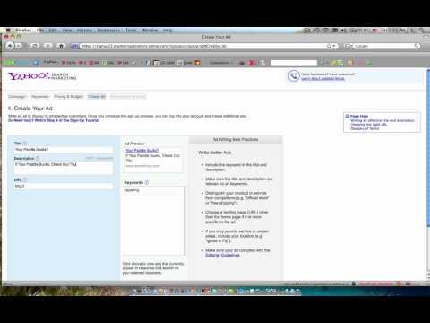Yahoo Pay Per Click 101
