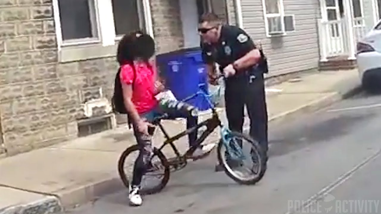 Cops Pepper Spray 15YearOld In Back Of Cruiser After She Hit Car With Bike
