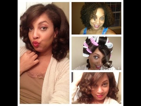 Capelli Hourglass Roller Set Initial Review and Results on Natural Curly Hair