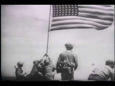 Marines Raise Flag Over Iwo Jima (1945)