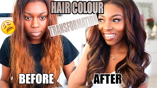 HOW I CHANGED MY HAIR COLOUR AFTER BLEACHING FAIL! HONEY CHOCOLATE BROWN