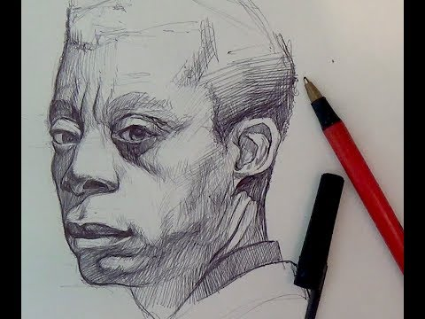 Pen & Ink Drawing Tutorials | Ballpoint pen portrait demo
