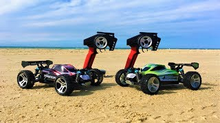 WLToys A959-B vs WLToys A959 Summer Beach Run! High Speed RC Cars In-Depth Comparison Part 2!