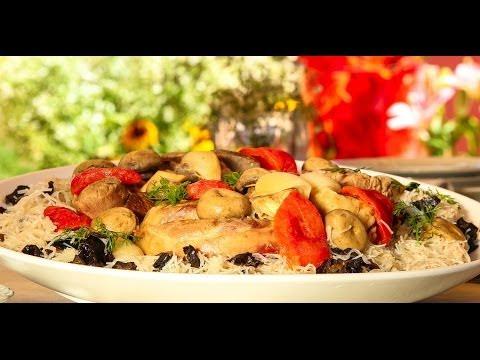 Choumicha : Gigot d'agneau aux vermicelles شميشة : لحم الغنم بشعرية الأرز والفطر