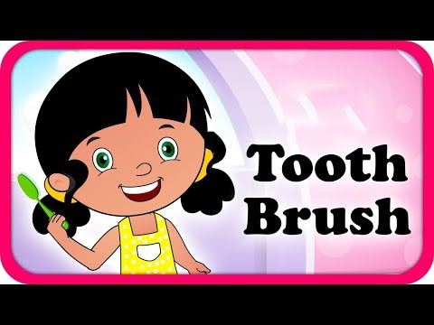 Tooth Brush Rhymes | English Rhymes | Popular Rhymes For Children | Tooth Brush Rhymes Poems | video