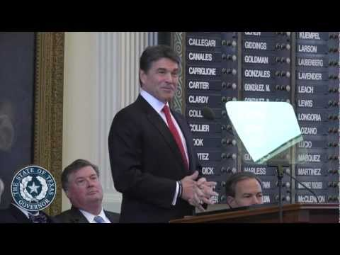 2013 SOTSGov. Rick Perry Delivers State of the State Address to 83rd Legislature