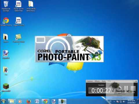 como descargar corel photo paint partable X3