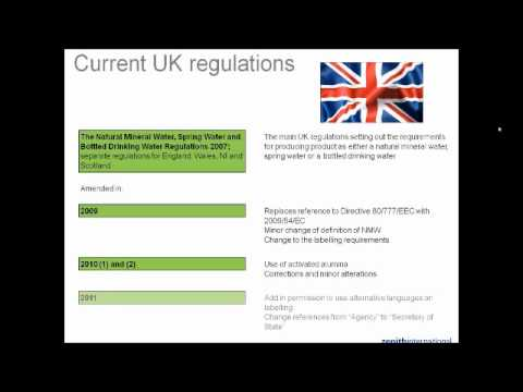 UK bottled water regulations 26th May 2011 - Part 1