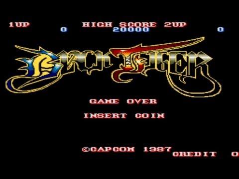 Black Tiger Round 1-2 1987 Capcom Mame Retro Arcade Games