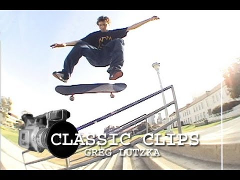 Greg Lutzka Skateboarding Classic Clips #42 San Deguito Rail