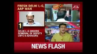 Delhi LG Orders Removal Of 9 Advisors In Kejriwal Govt, AAP Cries Foul