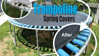 How to repair a Trampoline skirt with foam pool noodles