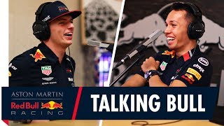 Talking Bull With Max Verstappen and Alex Albon on the Podcast