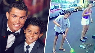 Cristiano Ronaldo took his son back to his childhood home to show the importance of hard work