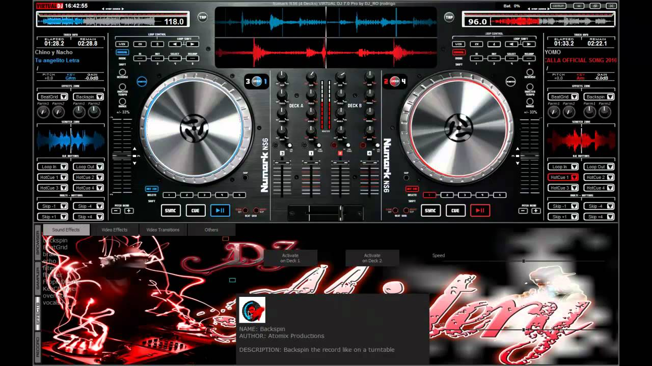 numark ns6 skin virtual dj download
